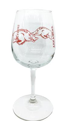 Arkansas 12oz Gameday Wine Glass