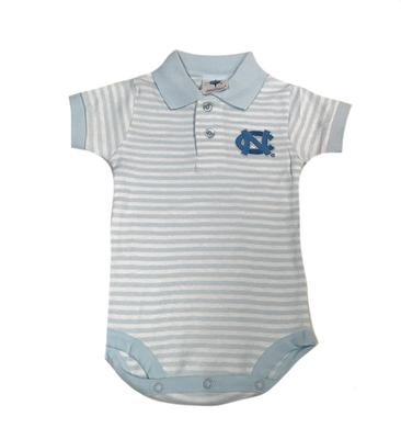 UNC Infant Striped Polo Bodysuit