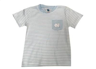 UNC Toddler Striped Pocket Tee