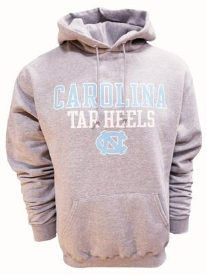 UNC Straight Hooded Pullover HTHR_GREY