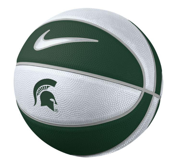 Michigan State Nike Mini Rubber Basketball