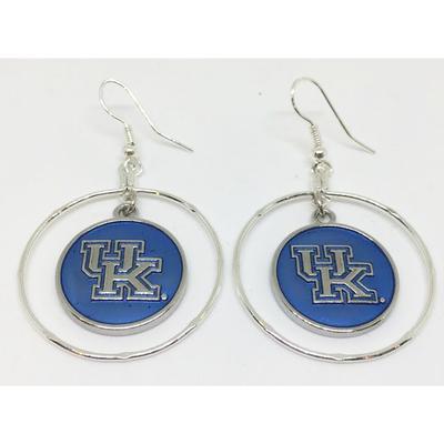 Kentucky Iridescent Disk Hoop Earrings