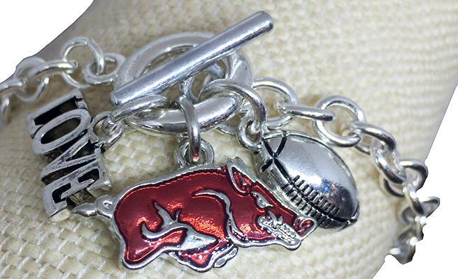Arkansas Love And Football Bracelet