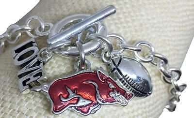 Arkansas Love And Football Bracelet