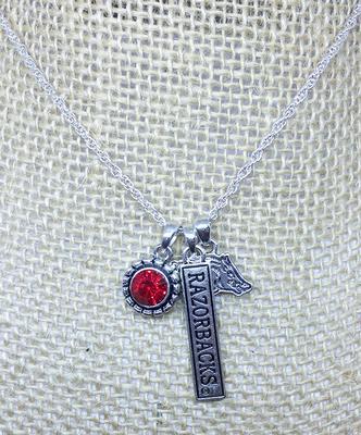 Arkansas Trifecta Charm Necklace