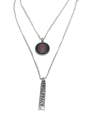 NC State Double Down Necklace