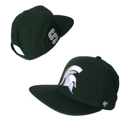 Michigan State Wool Sure Shot Flat Brim Hat