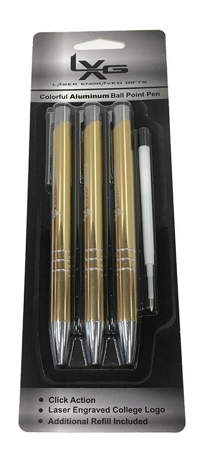West Virginia Aura Pens - 3pk