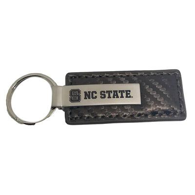 NC State Carbon Fiber Key Tag TAUPE