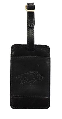 Arkansas Leather Luggage Tag