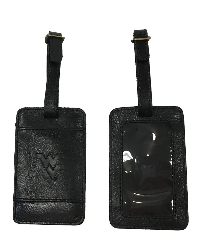 West Virginia Leather Luggage Tag