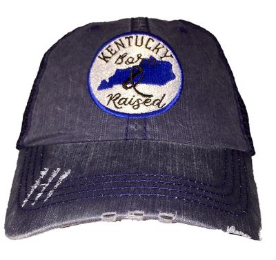 State Of Kentucky Circle Patch Born And Raised Cap