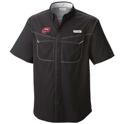 Western Kentucky Columbia Low Drag Off Shore Short Sleeve Woven Shirt BLACK