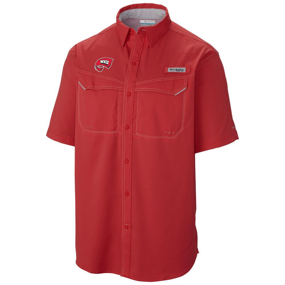 Western Kentucky Columbia Low Drag Off Shore Short Sleeve Woven Shirt