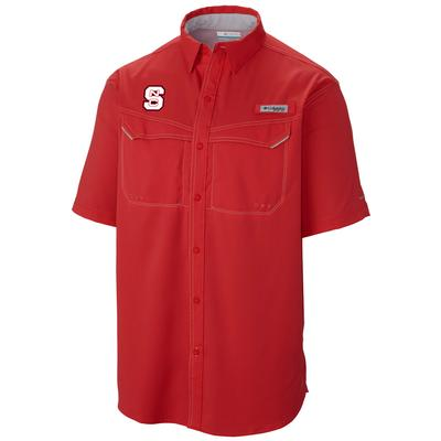 NC State Columbia Low Drag Off Shore Short Sleeve Woven Shirt