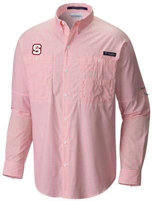 NC State Columbia Super Tamiami Long Sleeve Woven Shirt