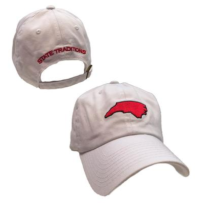 State Traditions White State Of North Carolina State Flag Cotton Slouch Hat