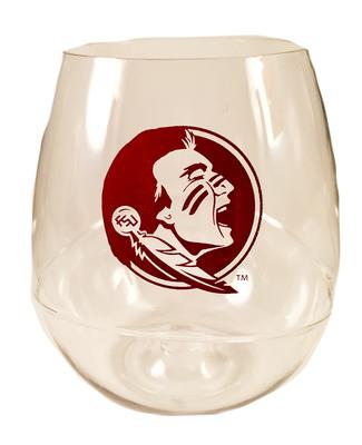 Florida State Plastic 16oz Stemless Wine Glass