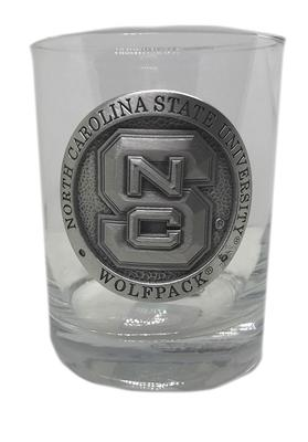 NC State Silver Label Rocks Glass