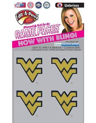 West Virginia Glitter WV Facecal (4 Pack)