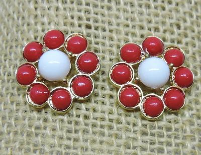 Cardinal And White Spirit Sprite Earrings