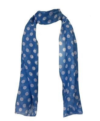 Blue and White Polka Dot Scarf
