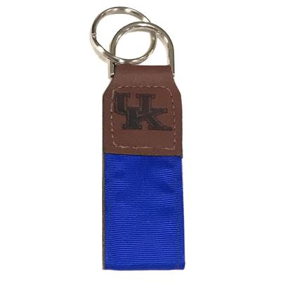 Kentucky Leather Ribbon Key Chain