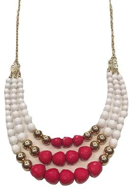 Red And White Touchdown Necklace