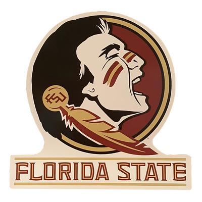 Florida State Seminole Head Magnet 12