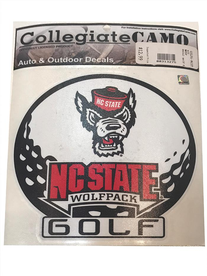 Nc State Golf Decal 6