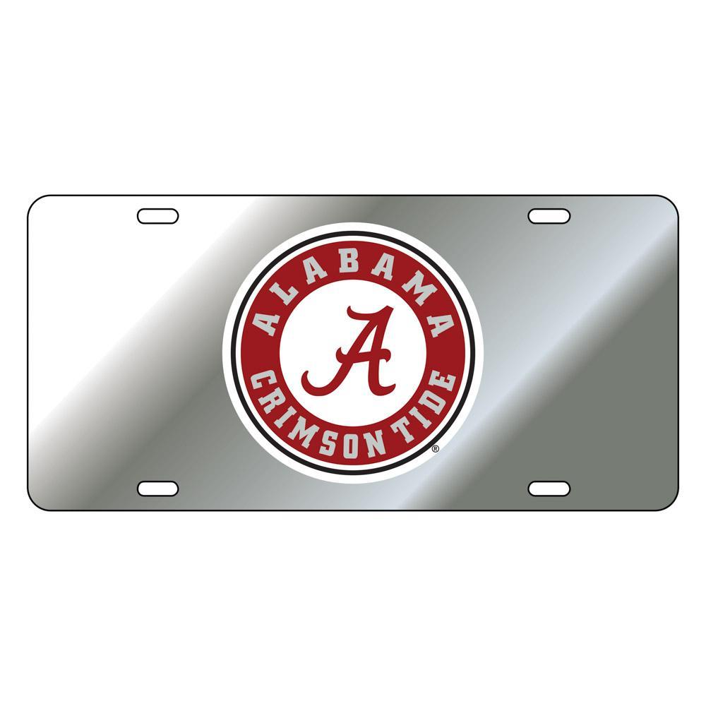 Alabama License Plate Silver/Red Circle Logo