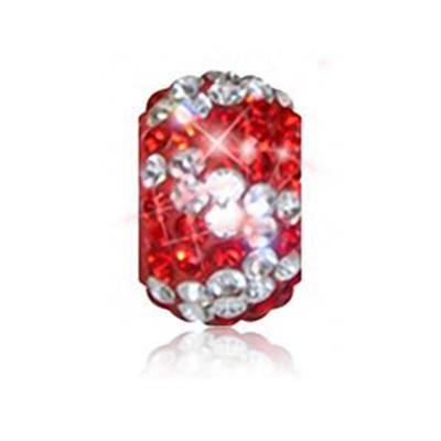 Sparkle Life Red and Clear Zebra Crystal Bead