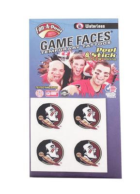 Florida State Seminole Face Tattoos (Waterless)