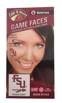 Florida State Spear Face Tattoos (Waterless)