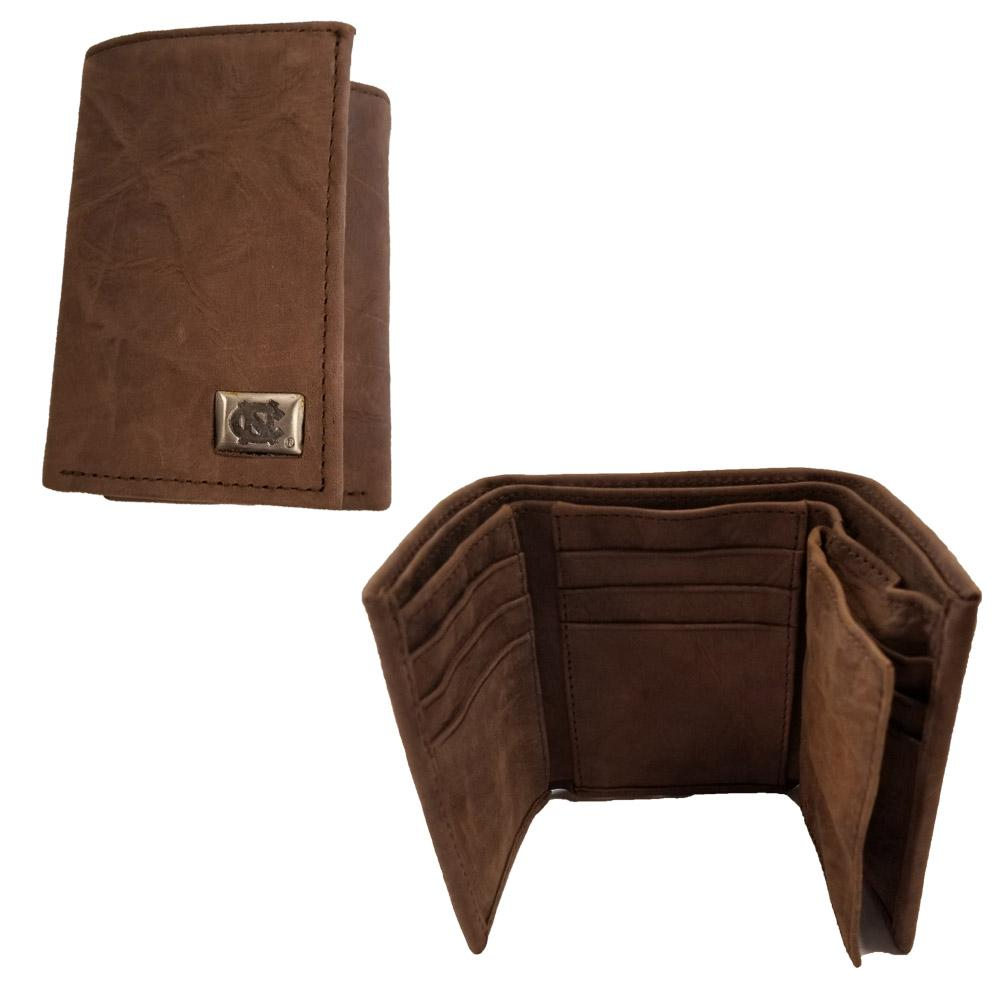 Unc Leather Tri- Fold Wallet