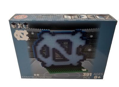 UNC 3D Brix Logo Building Blocks Puzzle Set