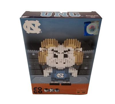 UNC 3D Brix Mascot Building Blocks Puzzle Set