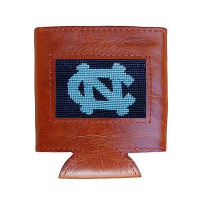 UNC Smathers & Branson Leather Needlepoint Coozie