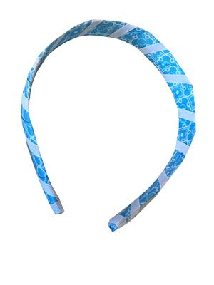 Light Blue & White Moroccan Wrap Headband