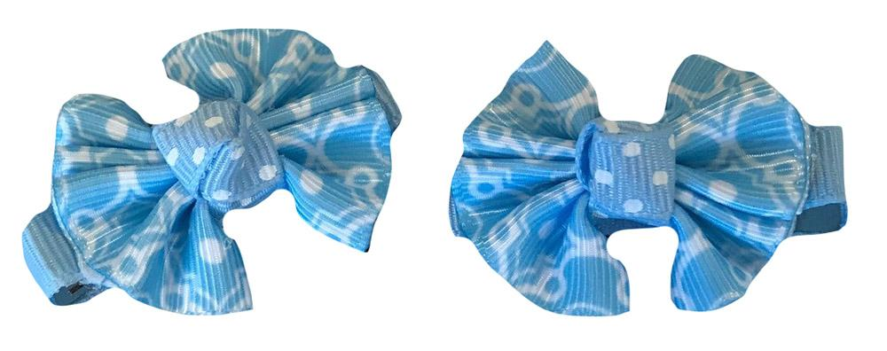 Light Blue & White Moroccan Hair Clip (Set Of 2)