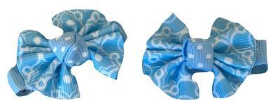Light Blue & White Moroccan Hair Clip (Set Of 2)