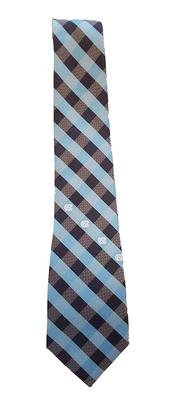 UNC Men's Woven Polyester Check Tie