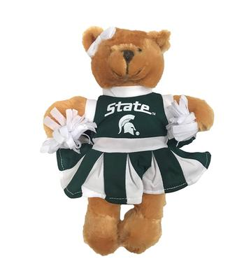 MSU Spartans Cheerleader Bear