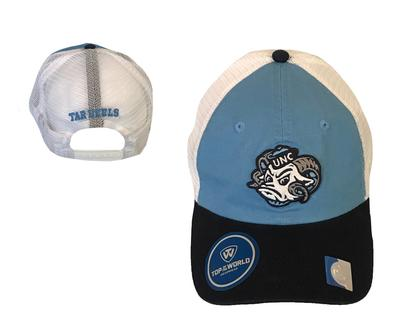 UNC Top Of The World Rameses Logo Adjustable Trucker Hat