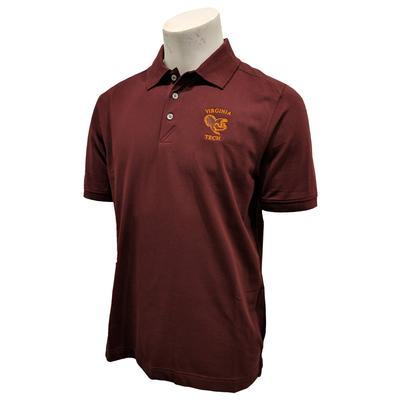 Virginia Tech Cutter & Buck DryTec Fighting Gobbler Polo