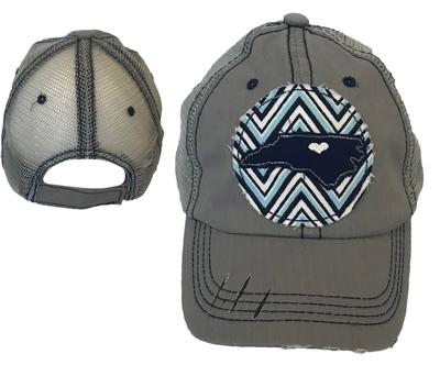 State of North Carolina Chevron Patch Meshback Hat
