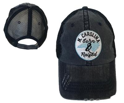 UNC Born & Raised Circle Patch Hat