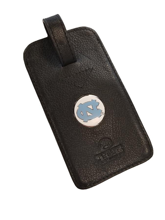 Unc Leather Luggage Tag