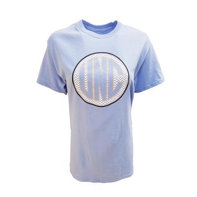 UNC Women's Chevron Monogram T-Shirt C.BLUE