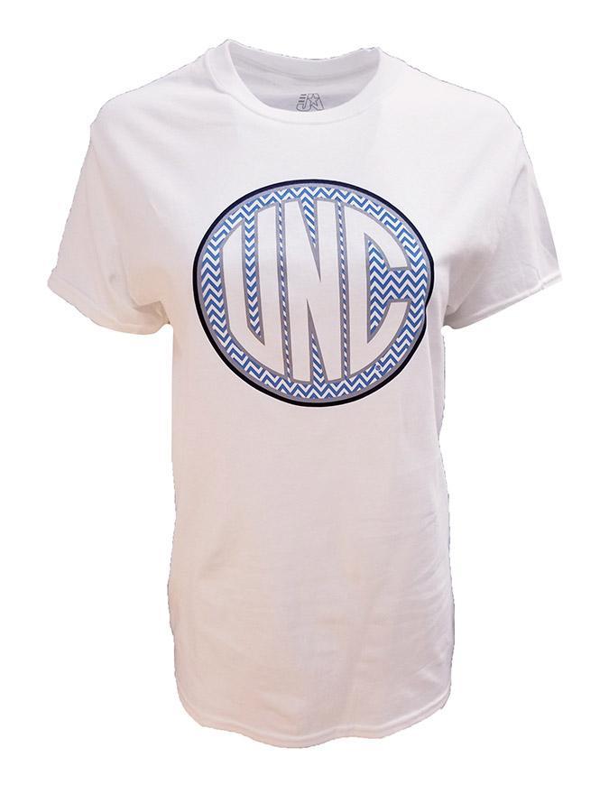 Unc Women's Chevron Monogram T- Shirt